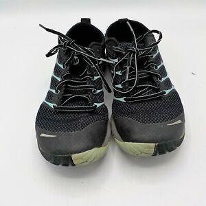 Merrell Wm's Black Eggshell Blue Athletic Trail Running Shoes Size 8 1/2 J06246