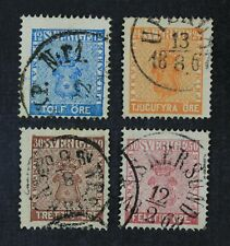 CKStamps: Sweden Stamps Collection Scott#8 10 11 12 Used
