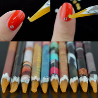 KM_ JW_ CO_ Crayon Wax Dotting Pen Pencil Rhinestones Picker DIY Manicure Art