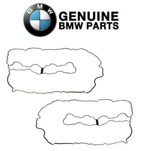 Genuine Pair Set of Left & Right Valve Cover Gasket Sets For BMW F01 F02 F10 F71