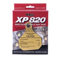 Y-Tex Xp 820 Combo Insecticide Tags Approved for Use on Dairy Cattle 20ct