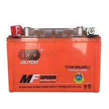 GEL Battery YTX9-BS for Honda TRX125 FourTrax TRX300X, EX Kawasaki KSF400-A (KFX