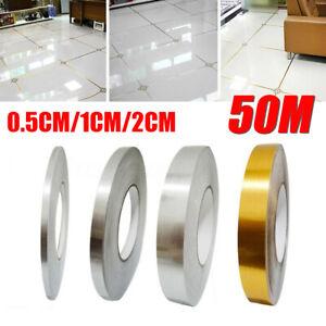 50M Self Adhesive Foil Tile Sticker Tape Filling Wall Floor Waterproof G