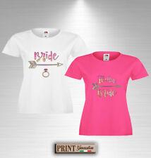 T-Shirt Addio al Nubilato BRIDE e TEAM BRIDE Maglietta Sposa Amiche Festa Nozze