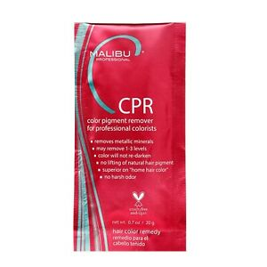 1 Malibu C CPR Color Pigment Stain Remover + Required Processing Cap Pink Packet