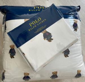 New Ralph Lauren Polo GIRL BEAR  Twin Comforter & Sheet Set