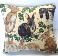 Tapestry Decorative Pillows Bunny Rabbits Ivy