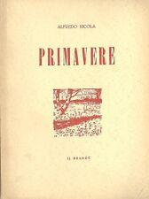 PRIMAVERE POESIE PIEMONTESI 1929 1934 DIALETTO BRANDè  NICOLA VELLAN GHEDUZZI