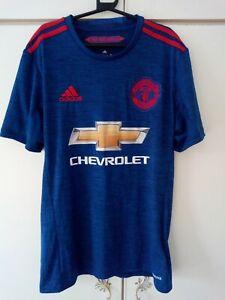 Manchester United Shirt Blue XS 2016 2017 Size Extra Small 2016/17 Man U Utd