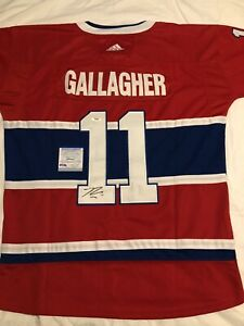 Brendan Gallagher Signed Auto Montreal Canadiens Jersey Stanley Cup Psa/Dna