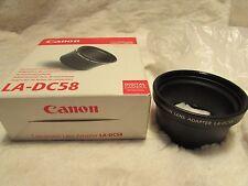 *** Canon LA-DC58 lentille de conversion adaptateur pour Canon PowerShot Série G ***