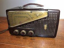 Vintage 1950s Old Split Face Am-Fm Zenith Antique Bakelite Tube Radio S-14549