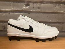 Nike Air Jordan 1 Retro MCS Low White Baseball Cleats CJ8524-001 Men's Size 10