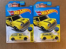 Lot of 2: 2016 Hot Wheels HW City Works '67 Austin Mini Van Yellow