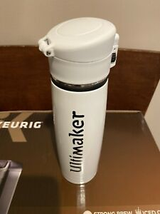 Ultimaker  White Stainless Steel Water Bottle