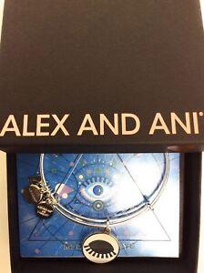 Alex and Ani Meditating Eye Color Infusion Bangle Bracelet Shiny Silver