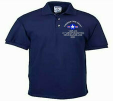 122ND FIGHTER WING*FORT WAYNE IAP*USAF ANG*EMBROIDERED LIGHTWEIGHT POLO SHIRT