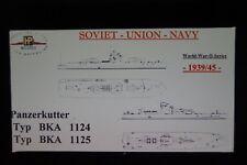 HP Models 1:700 Waterline   2 Russ. Panzerkutter -1x Typ BKA 1124 + 1x BKA 1125
