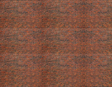 O Scale Brick Model Train Scenery Sheets –5 Seamless 8.5x11 Coverstock Dk Calico