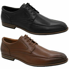 Mens Formal Shoes D555 Duke Big King Sizes Lace Up PU Leather Look Office Work