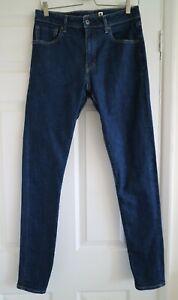 Levi's Made & Crafted Indigo Blue Denim 721 High Rise Skinny Jeans W30 L32