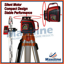 SP100 Auto Self Leveling Rotating Rotary Laser Level + Tripod Staff + Detector