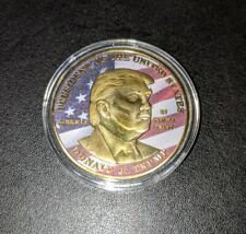 Donald Trump 2020 45th President Make America Great Again MAGA Gold Flag Coin