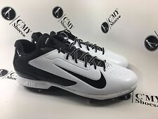 Nike  Men's  Baseball Huarache Cleats   White and Black   SZ  15 ( C 859) *