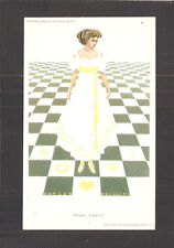 POSTCARD:  SIGNED COLES PHILLIPS ART - WHAT NEXT? - PRETTY LADY FADE-AWAY - 1909