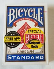 Stripper Deck, Bicycle Blue Backs,  Factory Sealed Ships with Tracking #  (2202)