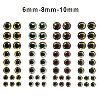 4D/5D Fishing Lure Eyes 6-8-10mm Holographic Eyes Fly Tying Jigs Tackle Crafts