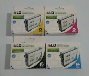 LD T200XL 4-Pack Black, Cyan, Magenta, Yellow Ink Cartridges for Epson Printer