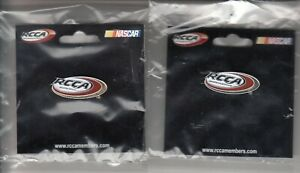Pair of RCCA NASCAR Pins - Gold & Platinum New in Package 2009 + 2010