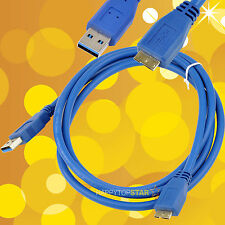 Blue 5FT/1.5 Meter USB 3.0 Type A Male to USB Type Micro B 3.0  Male Cable Cord