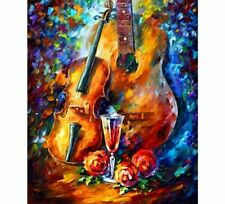 Full Drill Diamond Painting Kit Like Cross Stitch Guitar Music Instrument ZY230F