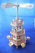 lg. German candle/wind powered carousel pyramid centerpiece
