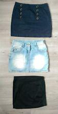 Lot jupes courtes femme bleu, jean, noir 36/38 Springfield, New Yorker, Kiabi