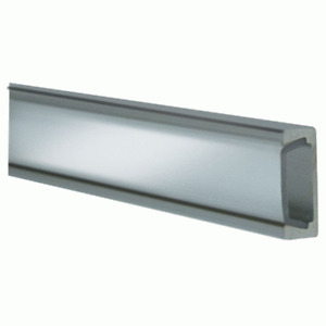 Metra & Heise For 1M Track Silver Anodized Aluminum Clear Surface Mount HE-ATCL