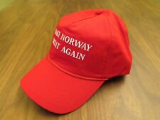 MAKE NORWAY GREAT AGAIN HAT USA DONALD TRUMP CAP RED NORGES OSLO BERGEN MAGA