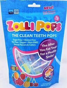 Zollipops - Sugar Free Vegan Lollipops - Assorted Flavours 25 pieces