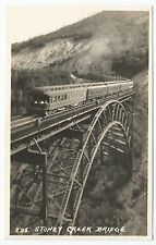POSTCARD-CANADA-ALBERTA-BANFF-RP. A Train on The Stoney Creek Bridge.