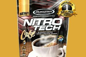 MUSCLETECH NITRO TECH BLENDED COFFEE WHEY PROTEIN SHAKE 1.0LB 30 SERVINGS
