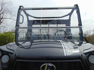 Kubota RTV XG850 2 Piece Lexan Windshield Quick Install Straps & Dual Vents