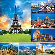 1000 Pieces Adult Puzzle Famous Buildings Eiffel Jigsaw Educational Toys Hobbies
