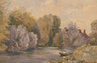 Late 19th Century Watercolour - Tranquil River Landscape