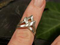 Wunderbarer 925 Silber Ring Modern Steampunk Gewunden Verschnörkelt Elegant