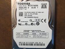 "Toshiba MK2576GSX (HDD2J95 D UL02 T) FW:GS002D 250gb 2.5"" Sata HDD"