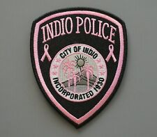 Indio California Pink Police Patch +++ Breast Cancer Awareness CA