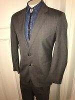 Vtg 60s 70s CIRCLE S Western Suit Two Piece Gray Mens 42 Jacket Coat 36 29 Pants