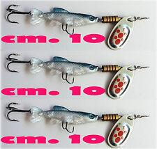 pesciolino con cucchiaino pescetto artificiale pesca trota luccio persico reale
